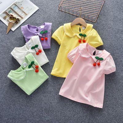 女宝宝t恤短袖夏季新款娃娃纯棉1-2-3-4-5岁儿童婴幼儿女童上衣潮