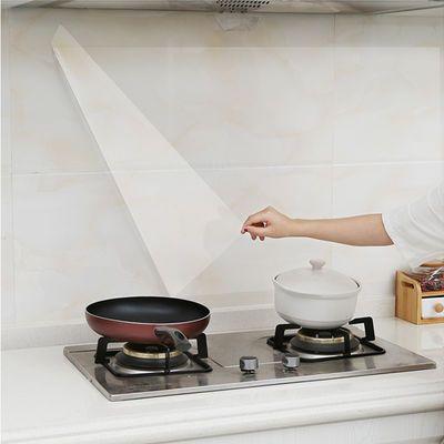 透明厨房贴纸防油防水墙贴耐高温瓷砖墙纸自粘橱柜灶台面翻新贴纸