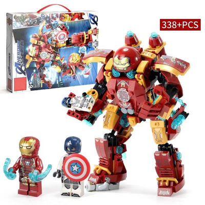 乐高积木复仇者联盟3超级英雄钢铁侠机甲反浩克装甲拼装益智玩具6