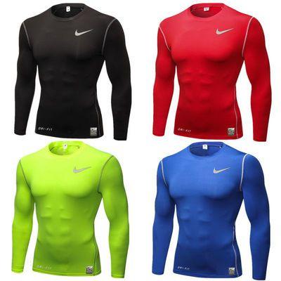 74524/健身服男士套装运动紧身衣跑步田径训练服篮球高弹力速干透气长袖