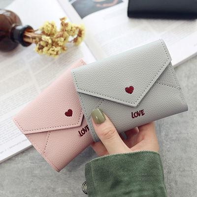 钱包女短款长款学生韩版时尚可爱三折简约手拿包卡包女简约小卡包