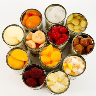 新鲜水果罐头混合2/6/12罐每罐425克黄桃什锦橘子梨
