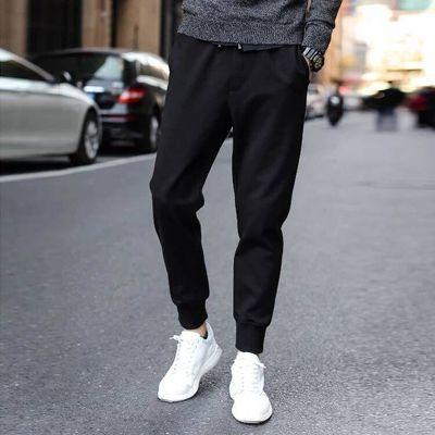 夏季裤子男士韩版潮流宽松工装裤薄款束脚运动休闲小脚修身九分裤