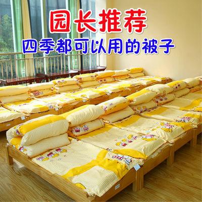 59616/幼儿园被子三件套宝宝午睡被儿童全棉含芯六件套可拆洗卡通被褥夏