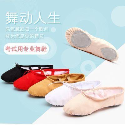 舞蹈鞋儿童练功鞋女童成人女艺考平地古典软底芭蕾舞跳舞鞋猫爪鞋