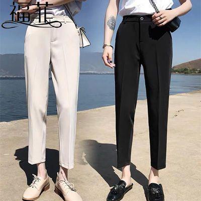 九分/长裤西装裤女2020春夏新款韩版高腰职业西裤女休闲小脚裤子
