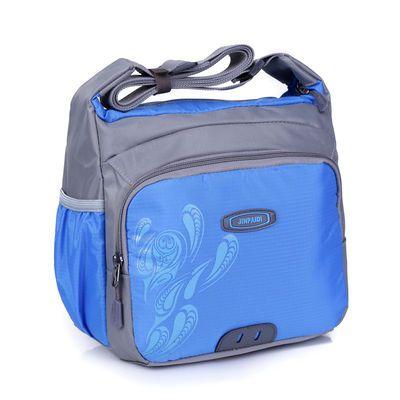 新款运动单肩包男女斜挎包大容量尼龙户外休闲包防水旅游多层小包