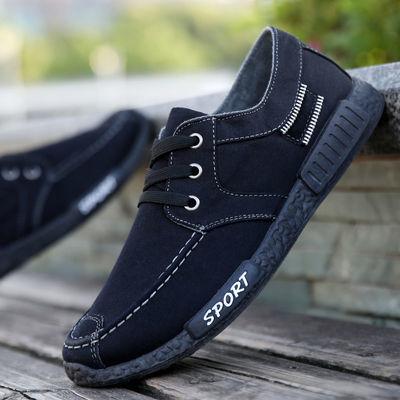 辉跃男士时尚帆布鞋时尚潮流韩版休闲鞋男板鞋老北京布鞋低帮男鞋