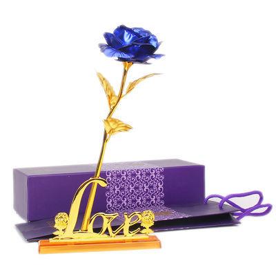 三八节礼物金箔玫瑰花创意生日礼物送女友实用公司活动赠品仿真花