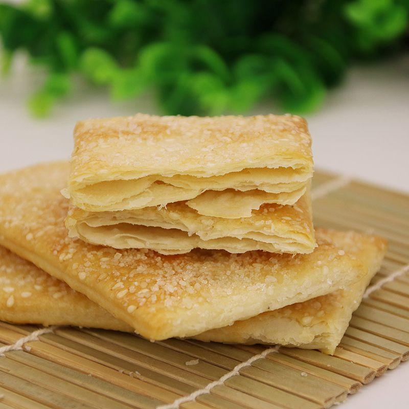 山西特产早餐,海玉 缸炉饼 千层酥薄脆饼干 500g