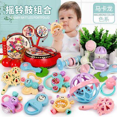 婴儿玩具摇铃 3-6-12个月宝宝新生幼儿0-1岁男女孩益智拨浪鼓套装