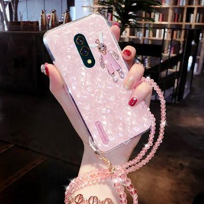 OPPOK3手机壳女防摔硅胶可爱OPPOK3手机外壳玻璃透明K3挂绳手机套
