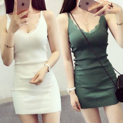 背心裙显瘦夏季吊带裙女性感夜店修身弹力打底裙中长款包臀连衣裙