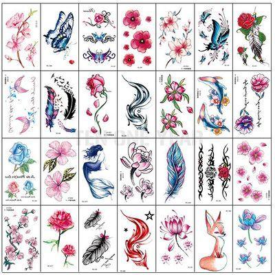 原创新款文字纹身贴防水男女持久情侣汉字英文字母纹身贴纸文生贴