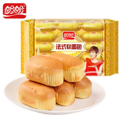 盼盼食品法式软面包1200克两斤包奶香味面包早餐糕点心零食