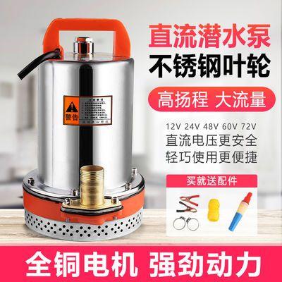 电动车直流潜水泵电瓶小型农用家用直流泵高扬程抽水泵12V24V4860