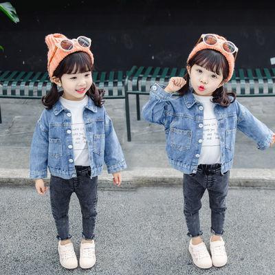 儿童牛仔外套男女童春秋装2020新款宝宝洋气休闲上衣韩版开衫夹克