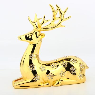 汽车香水摆件鹿子工艺车饰品车载摆件金属制品