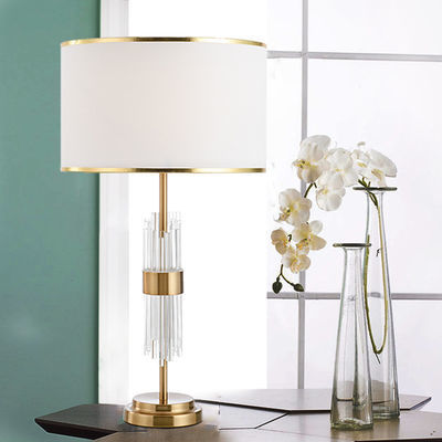 后现代简约轻奢玻璃水晶台灯北欧创意客厅样板房设计师卧室床头灯