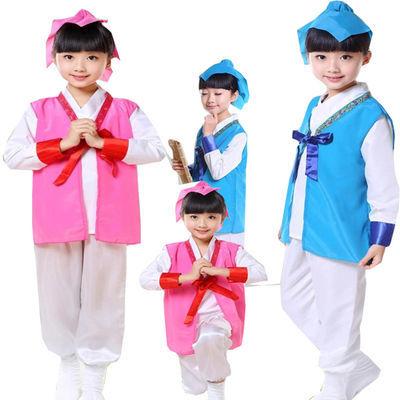 幼儿弟子规舞蹈服游子吟演出服装儿童书童表演服 唐风古韵汉服
