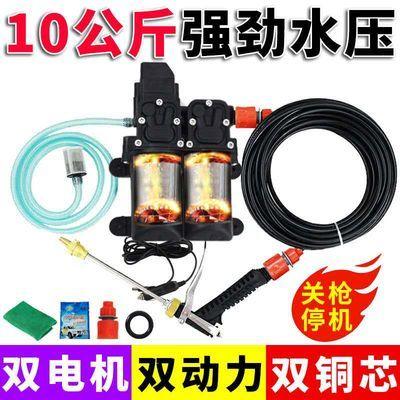 功率便携式小型洗车泵高压水枪12v车载洗车机家用220v洗车器超大