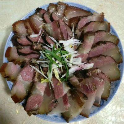 湖南湘西农家干货大山里柴火烟熏腊肉溆浦特产腊五花肉土猪腊瘦肉