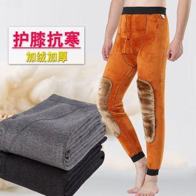 冬季保暖裤 (2条装送袜子)男士加绒加厚单条装秋裤护膝毛裤厚棉裤