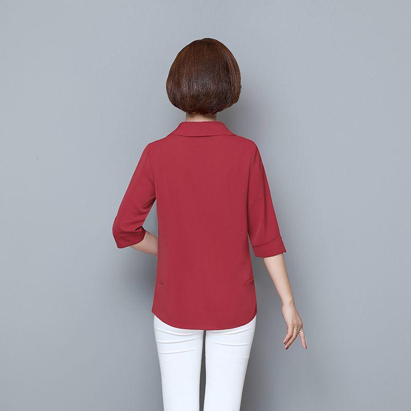 春季新款妈妈装开衫大码遮肚中袖上衣40岁50女装洋气小衫夏装衬衫【2月8日发完】