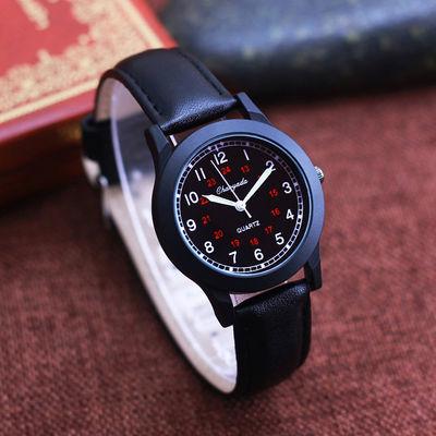 简约休闲男孩皮带儿童手表中小学生韩版石英防水韩版男士潮手腕表