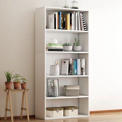 简约现代自由组合书柜置物柜木质儿童收纳储物小柜子简易书架书