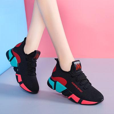 【单棉可选】新款韩版时尚百搭跑步运动网红轻便休闲防滑软底女鞋主图