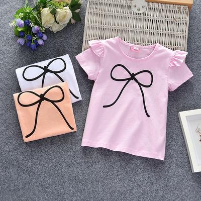 女宝宝夏季女童短袖洋气儿童上衣女童夏装韩版新潮衣服小女孩T恤