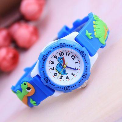 可爱卡通小男孩恐龙手表学生儿童幼童石英防水电子韩版礼物潮腕表