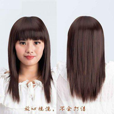 假发女中长直发隐形无痕中老年假发送妈妈自然蓬松顺滑全头套