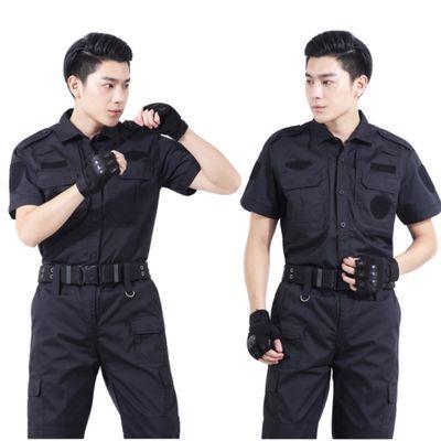 保安服套装男黑色作训服执勤服春夏装长短袖工作服物业保安制服