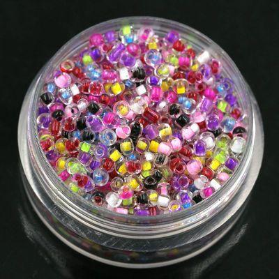 2毫米3毫米玻璃米珠3000颗串珠DIY项链手链制作汉服饰十字绣散珠