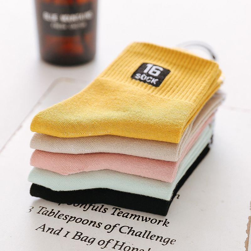 便宜的【5-10双】袜子女韩版中筒原宿风学生春夏季薄款长筒袜子短袜船袜