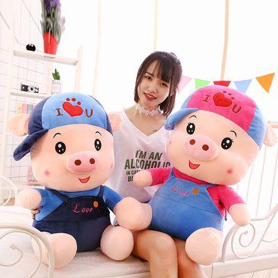 可爱毛绒猪公仔儿童玩具熊大号网红猪抱枕女生节日生日礼物少女心