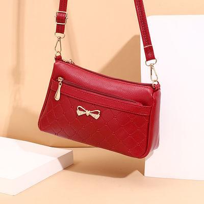 小包包2020新款时尚夏季中老年妈妈女式手包韩版软皮单肩斜跨女包