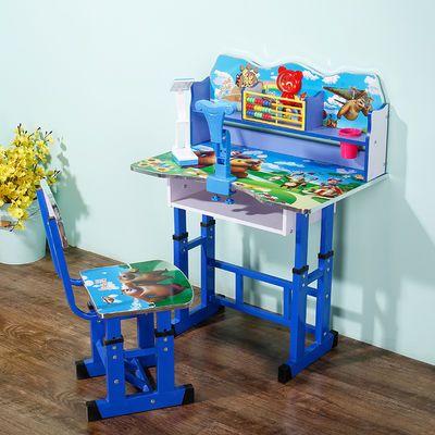 学习桌儿童书桌小学生加大写字桌椅套装家用课桌书柜组合男孩女孩