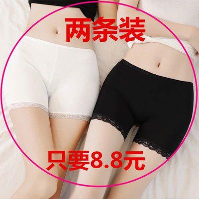 夏季安全裤女修身三分裤打底裤短裤短款冰丝防走光蕾丝边保险裤女