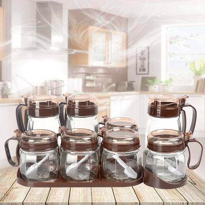 不锈钢带盖糖盅调味罐商用调料盒带勺味精罐装盐辣椒油罐厨房用品