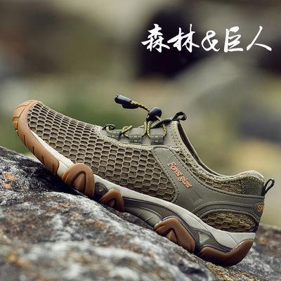 森林巨人男士透气网鞋夏男牛筋底网面鞋厚底网布鞋运动轻便休闲鞋