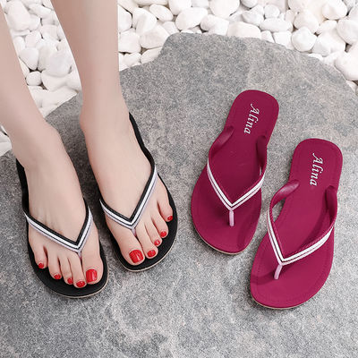 2020新款人字拖女夏外穿时尚简约塑胶防滑平底沙滩软底夹脚凉拖鞋