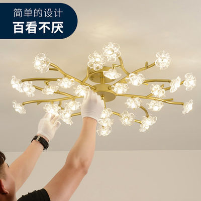 北欧灯具简约现代卧室led吸顶灯家用客厅灯创意梅花餐厅吸顶吊灯