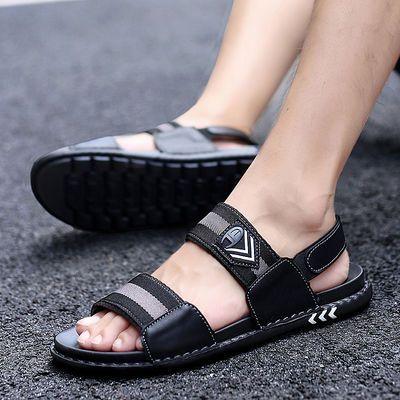 新款夏季凉鞋男户外沙滩鞋学生青少年韩版时尚休闲运动凉拖鞋潮流