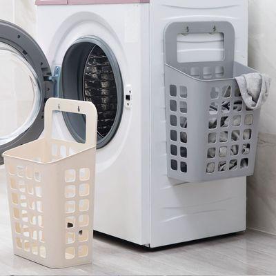 居家家可折叠脏衣篮塑料挂墙收纳筐浴室洗衣篮脏衣服收纳篮脏衣篓【3月31日发完】