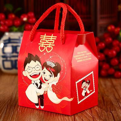 创意中式结婚糖盒纸质婚庆回礼糖袋糖果小喜糖盒子批发婚礼礼盒