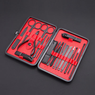 乔舒亚指甲钳黑色修甲套装指甲刀件套个人护理指甲盒套装美甲工具