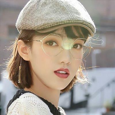 防辐射近视眼镜女学生有度数复古文艺平光镜眼镜框架韩版近视镜女
